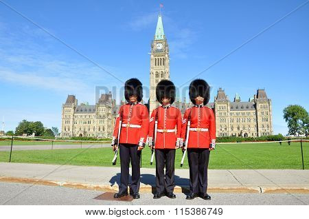 Royal Guard on Parliament Hill, Ottawa