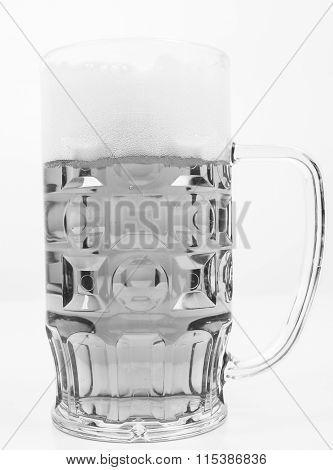 Black And White Lager Beer Glass