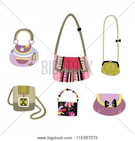 Set of lovely handbags with designs created by me.