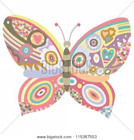 Ornamental butterfly with lot of detail