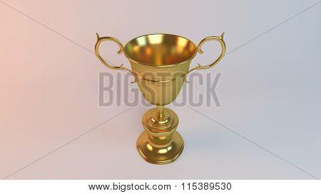 golden 3d cup