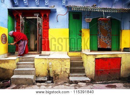 JODHPUR, 28 March 2015, INDIA - Jodhpur street scenein the Blue City of Jodhpur, India, Asia