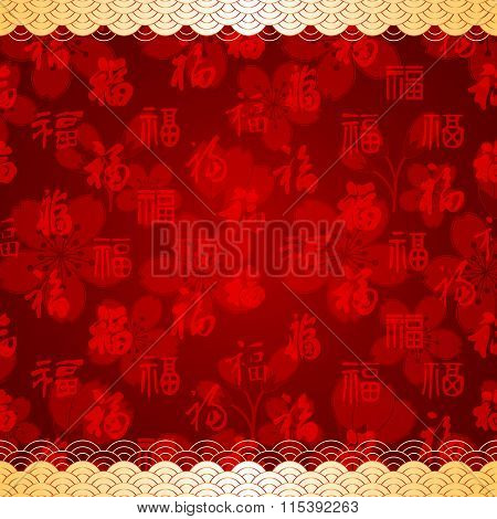 Chinese New Year Red Seamless Pattern Background