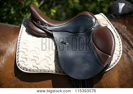 Saddle On A Back Of A Horse