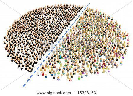 Cartoon Crowd, Halved
