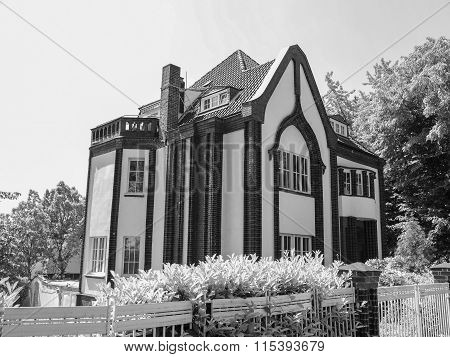 Black And White Behrens House In Darmstadt