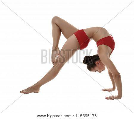 Image of flexible girl doing gymnastic pose