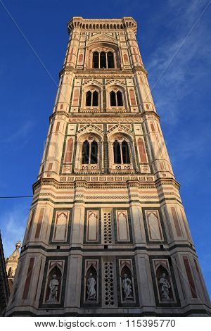 Santa Maria Del Fiore Church With Giotto Tower, Florence, Italy