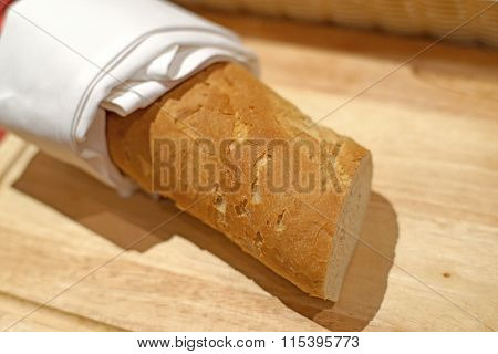 French Baguette For Breakfast Meal