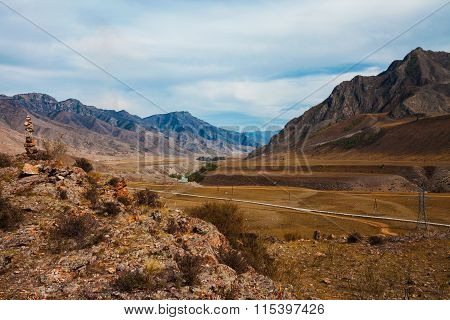 Beautiful River Valley Landscape