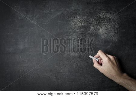 Writing with chalk