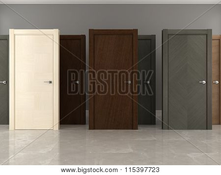 Doors collection rendering