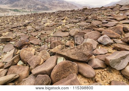Rocks And Stones Mountains Ladakh Landscape Leh Jammu Kashmir, India