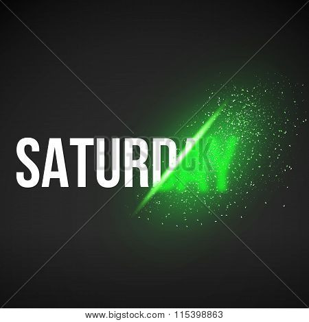 Saturday Sale Energy Explosion Concept Vector Illustration. Week
