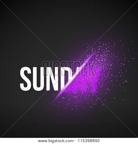 Sunday Sale Energy Explosion Concept Vector Illustration. Week D