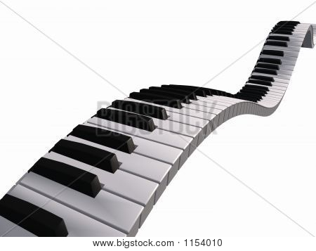 Floating Piano Keyboard