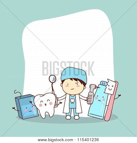 Happy Tooth Friend With Dentist