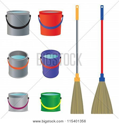 Mops And Buckets.