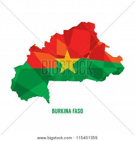 Map Of Burkina Faso.