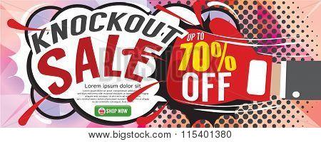 Knockout Sale 1500X600 Pixel.