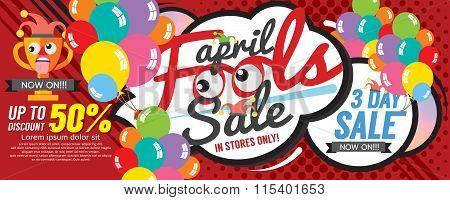 April Fool Sale 1500X600 Pixel Banner.