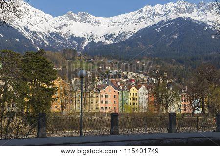 Colorful buildings of Innsbruck