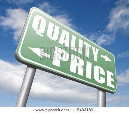 price quality balance product best value and top or premium qualities cheap road sign