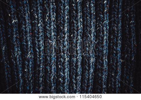Background Knitting Loops Blue Thread