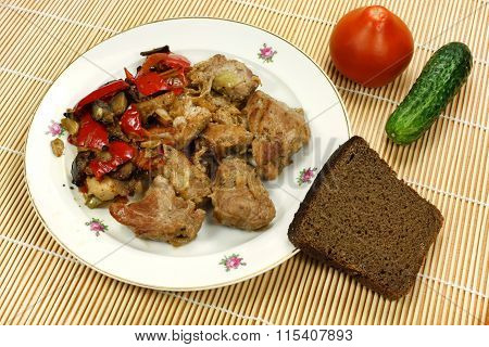 Fried Meat With Vegetables