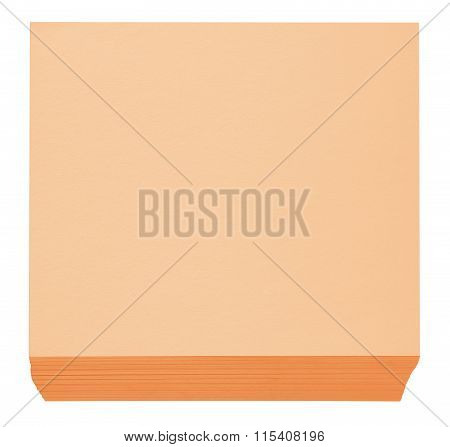 Packed Block Of Note Paper - Orange