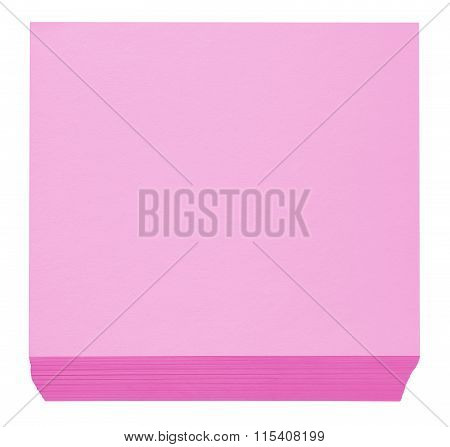 Packed Block Of Note Paper - Pink