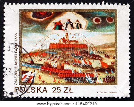 Postage Stamp Poland 1982 Siege Of Jasna Gora
