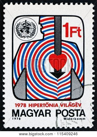 Postage Stamp Hungary 1978 Drive Against Hypertension