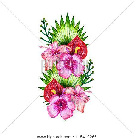 Flower Exotic Tropical Composition