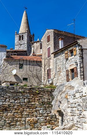 Tower Of Parish Church - Bale, Istria, Croatia
