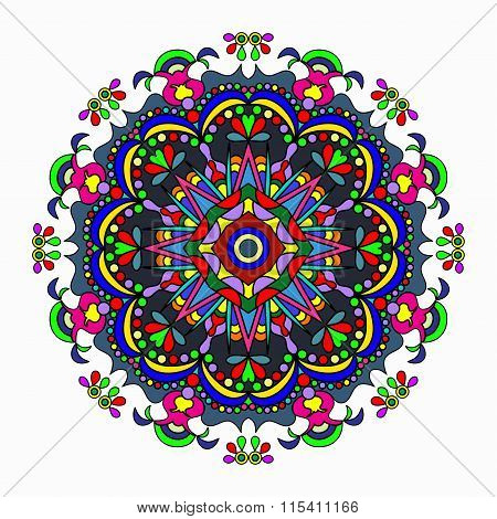 Mandala. Vintage Elements. Vector Illustration