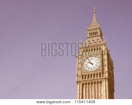 Big Ben In London Vintage