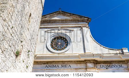 Detail Of Parish Church - Bale, Istria, Croatia