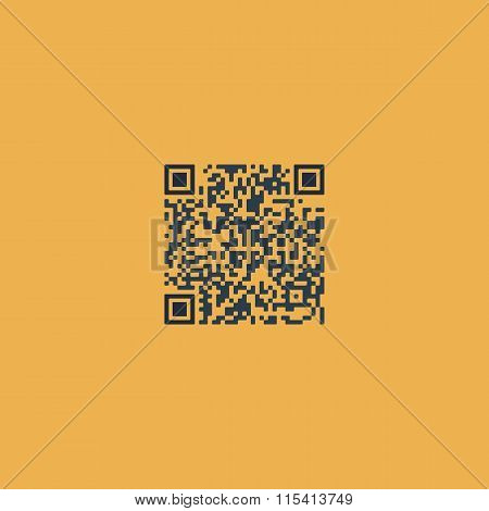 Qr code. Colorful vector icon. Simple retro color modern illustration pictogram. Collection concept symbol for infographic project and logo