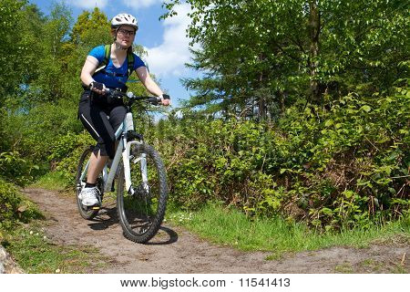 Lady Mountain Biker