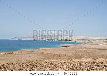 Fuerteventura volcanic landscape, Canari islands of Spain