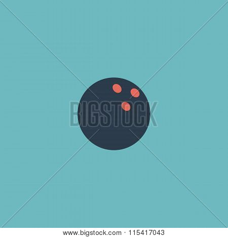 Bowling ball. Colorful vector icon. Simple retro color modern illustration pictogram. Collection concept symbol for infographic project and logo