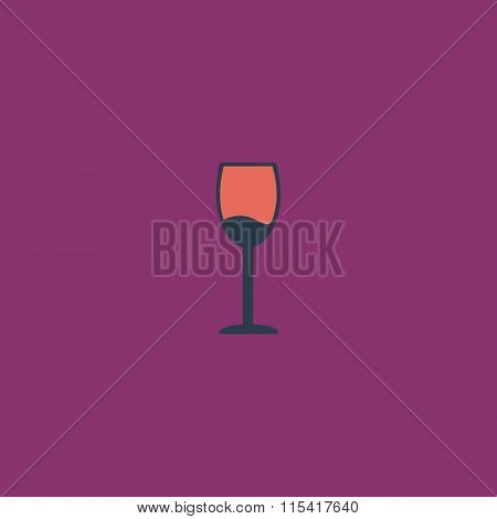 Simple Wine glass - Alcohol drink. Colorful vector icon. Simple retro color modern illustration pictogram. Collection concept symbol for infographic project and logo