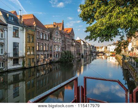 The historic center of Ghent, Belgium
