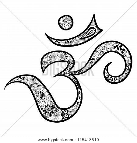 Hieroglyph Om Illustration