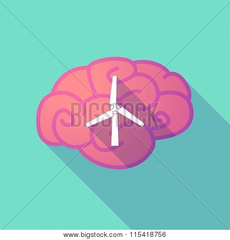 Long Shadow Brain With  A Wind Generator