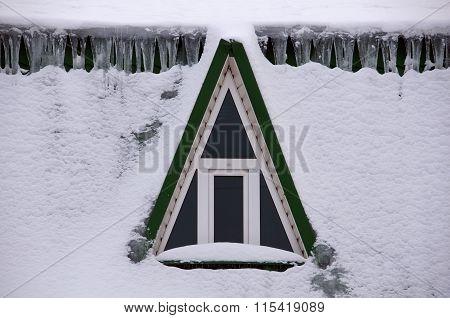 Attic Window In Snow