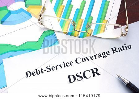 Debt-Service Coverage Ratio - DSCR form on a table.