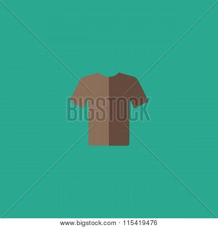Tshirt Icon, vector illustration. Flat design