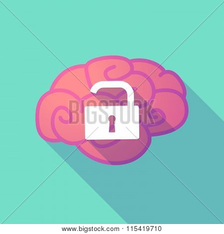 Long Shadow Brain With  An Open Lock Pad